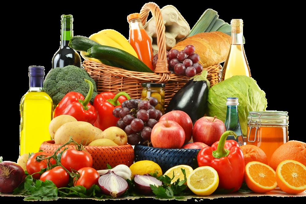 verschiedenes Obst und Gemüse